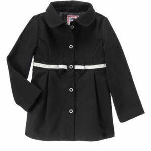 Gymboree Pea Coat Baby Girls Black Bow Jacket NWT